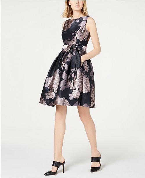 6bfb5df08e453 Jessica Howard Floral Fit & Flare Dress & Reviews - Dresses - Women ...
