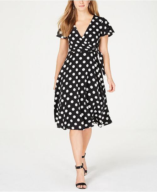 Jessica Howard Polka Dot Midi Wrap Dress Amp Reviews