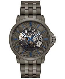 Men's Automatic Gunmetal-Tone Stainless Steel Bracelet Watch 44mm