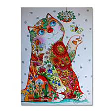 Oxana Ziaka 'Bucolic Cat' Canvas Art Collection