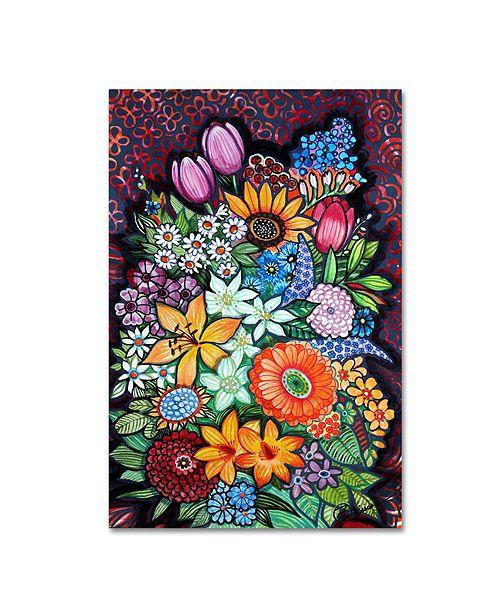 "Trademark Global Oxana Ziaka 'Autumn Flowers' Canvas Art - 19"" x 12"" x 2"""