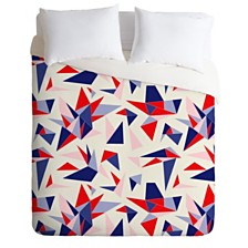 Deny Designs Holli Zollinger Bright Origami Queen Duvet Set