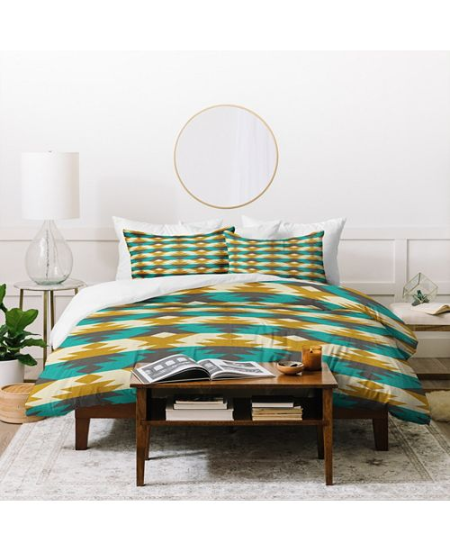 Deny Designs Holli Zollinger Native Diamond Twin Duvet Set