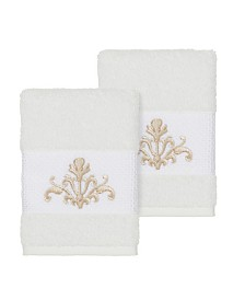 Linum Home Scarlet 2-Pc. Embellished Washcloth Set