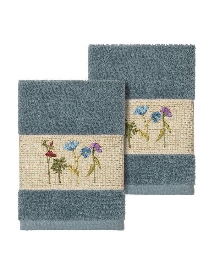 Linum Home - SERENITY 2PC Embellished Washcloth Set