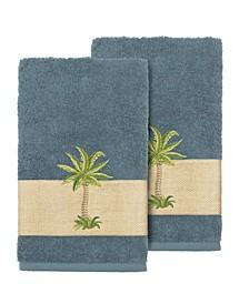 Colton 2-Pc. Embellished Hand Towel Set