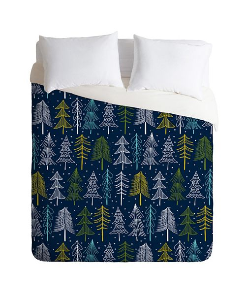 Deny Designs Heather Dutton Oh Christmas Tree Midnight Twin Duvet Set