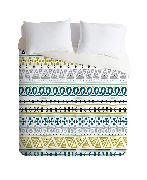 Deny Designs Heather Dutton Boho Market Stripe Queen Duvet Set