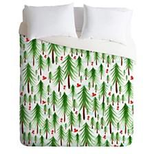Deny Designs Heather Dutton Christmas Tree Farm Queen Duvet Set