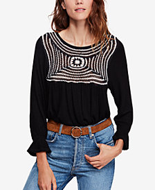 Free People Soul Mate Crochet-Pattern Top