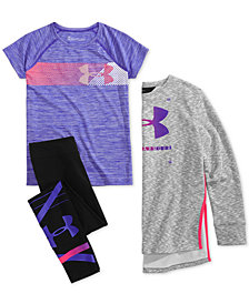 Under Armour Big Girls Sweatshirt, T-Shirt & Leggings