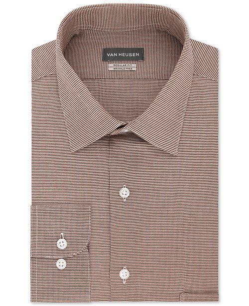 Van Heusen Men's Classic-Fit Micro Houndstooth Dress Shirt