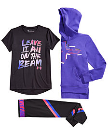 Under Armour Big Girls Hoodie, Leggings & T-shirt