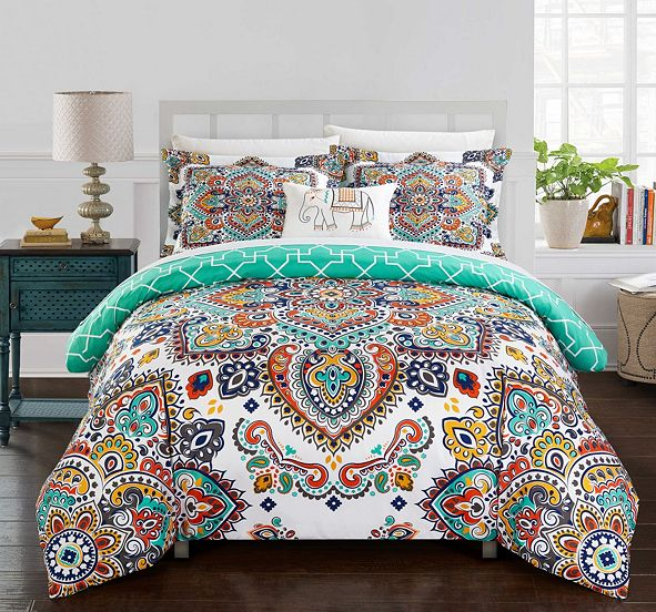 Chic Home Raypur 8-Pc Queen Comforter Set