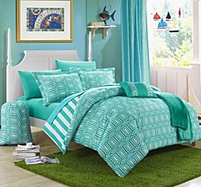 Paris 8-Pc Twin X-Long Comforter Set
