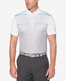 PGA TOUR Men's Airflux Performance Geo-Stripe Polo