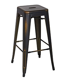 Bella Luna Vintage Bella Luna Galanized Steel Bar Stool (Set of 4)
