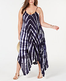 Raviya Plus Size Tie-Dyed Maxi Cover-Up