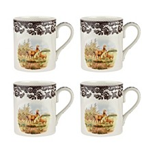 Woodland Deer Mug - Set of 4
