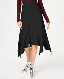 I.N.C. Handkerchief-Hem A-Line Skirt, Created for Macy's