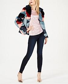I.N.C. Faux Fur Coat, Shimmer Top & Skinny Pants, Created for Macy's
