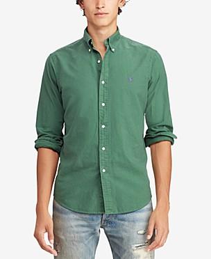 폴로 랄프로렌 Polo Ralph Lauren Mens Classic Fit Garment Dyed Oxford Shirt