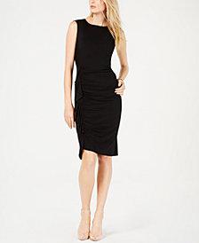 I.N.C. Ruched Ruffled Dress, Created for Macy's