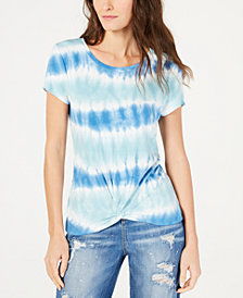 I.N.C. Twisted Tie-Dyed Top, Created for Macy's