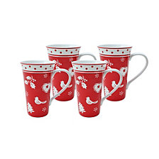 222 Fifth Tivoli Latte Mugs, Set of 4