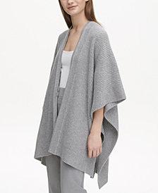 Calvin Klein Cashmere Textured Sweater Cape