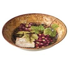 Certified International Gilded Wine Serving/Pasta Bowl