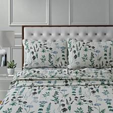 Fleur 170-GSM Cotton Flannel Printed Extra Deep Pocket Full Sheet Set