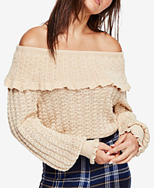 Free People Crazy In Love Off-The-Shoulder Top