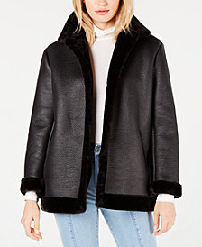 French Connection Louie Oversized Faux-Shearling Jacket