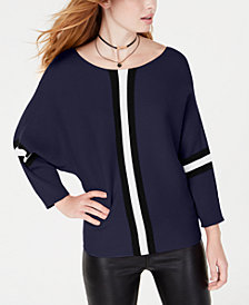 Say What? Juniors' Ribbed Striped Sweater