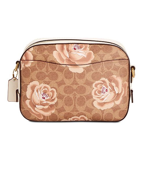 32c953fc10c08 COACH Signature Rose Print Camera Bag   Reviews - Handbags ...