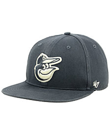 '47 Brand Baltimore Orioles Garment Washed Navy Snapback Cap