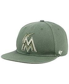 '47 Brand Miami Marlins Moss Snapback Cap