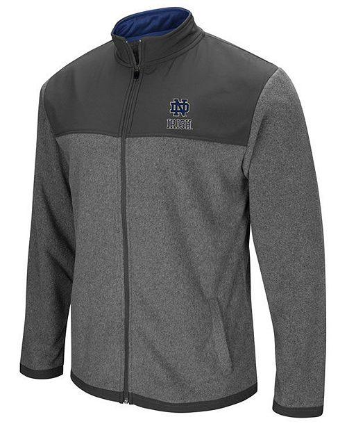 Colosseum Men's Notre Dame Fighting Irish Full-Zip Fleece Jacket