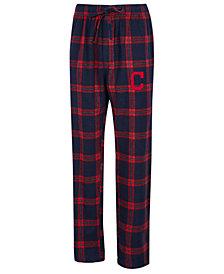 Concepts Sport Men's Cleveland Indians Homestretch Flannel Pajama Pants