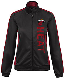 G-III Sports Women's Miami Heat Backfield Track Jacket