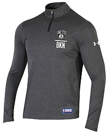 Under Armour Men's Brooklyn Nets Combine Authentic Season Quarter-Zip Pullover