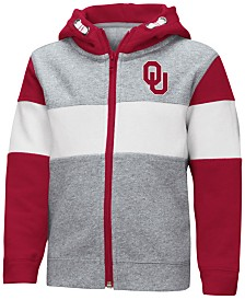 Colosseum Oklahoma Sooners Colorblocked Full-Zip Sweatshirt, Toddler Boys (2T-4T)