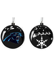 "Memory Company Carolina Panthers 3"" Sled Glass Ball"
