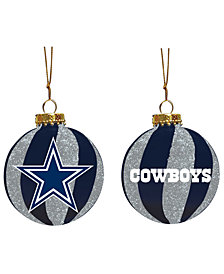 "Memory Company Dallas Cowboys 3"" Sparkle Glass Ball"