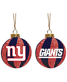 "Memory Company New York Giants 3"" Sparkle Glass Ball"