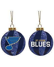 "Memory Company St. Louis Blues 3"" Sparkle Glass Ball"