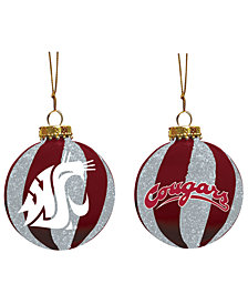 "Memory Company Washington State Cougars 3"" Sparkle Glass Ball"