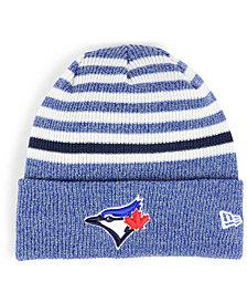New Era Toronto Blue Jays Striped Cuff Knit Hat