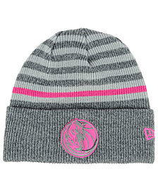 New Era Dallas Mavericks Striped Cuff Knit Hat